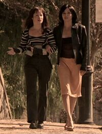 Prue and Piper walking