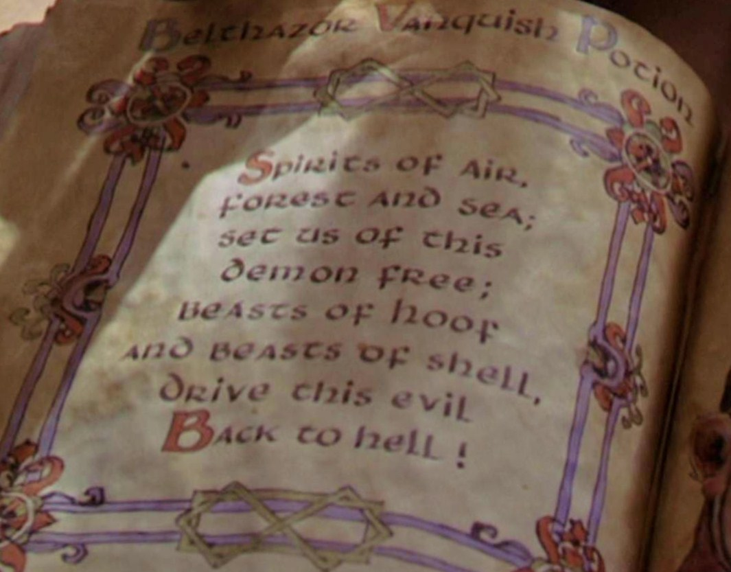 Book Of Shadows Potions
