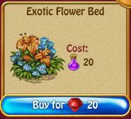 Exotic flower bedN300