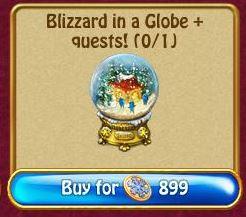 Blizzard in a Globe