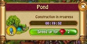 Pond construction timer