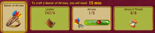 Quiver of arrows recipe