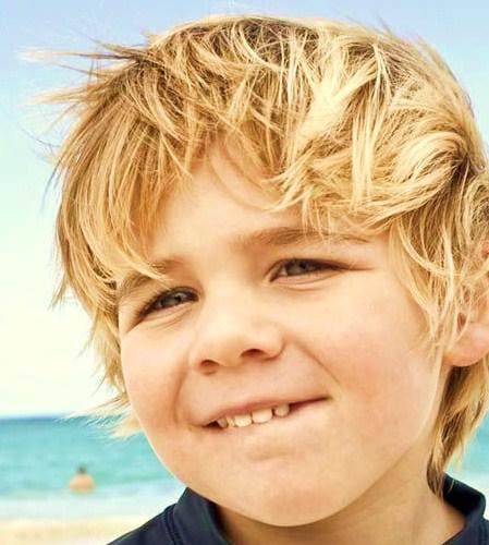 Image Blonde Boy With Windswept Hair On Beach 241900001 Jpg