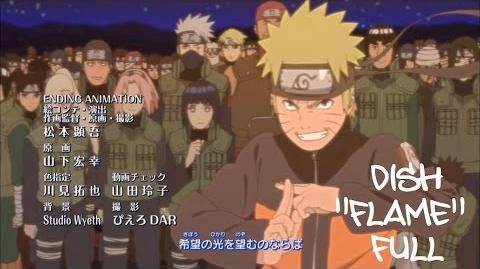 Naruto Shippuden Ending 29 (Official FULL version) HD (With Lyrics) Flame - Dish DOWNLOAD