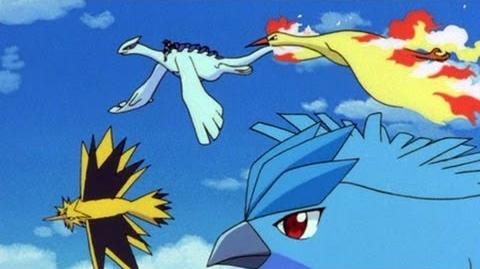Ash and Lugia VS The Legendary Birds