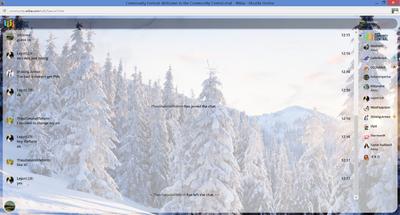 PrntScr Trees Chat Skin Full Screen