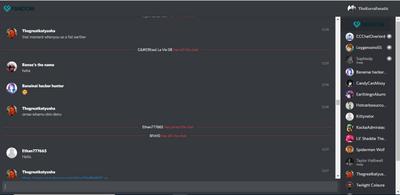 Discord Chat Skin full screen