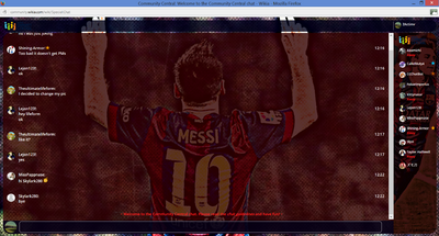 PrntScr Lionel Messi Chat Skin Full Screen