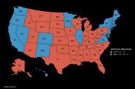 US-2016 map (Black Version)