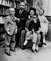 Coretta and Martin with Children