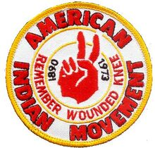 American Indian Movement Badge