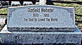 Garfield Lucas Webster grave from 2004