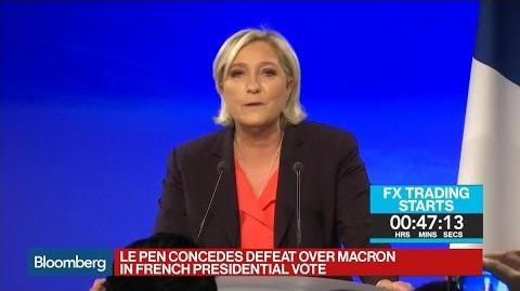 Le Pen Concedes Defeat Over Macron