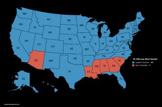 US-1964 map (Black Version)