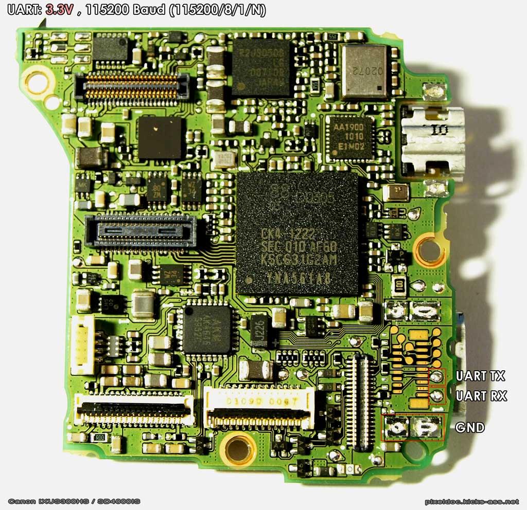Uart Chdk Wiki Fandom Powered By Wikia How To Establish A Pc Micro Controller Usart Communication Canon Ixus300 Sd4000