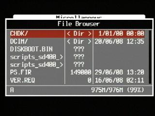 Allbest51-425 SD400 Filebrowser