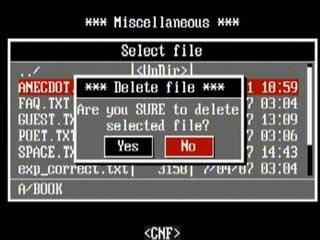 Del file
