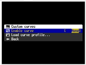 Custom Curves