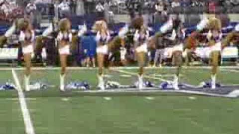 Dallas Cowboys Cheerleaders kick line- Thanksgiving Day 2013 Cowboys-Raiders