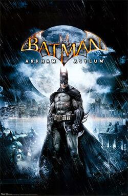 Batman Arkham Asylum Videogame Cover