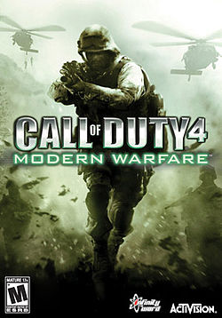 Cal of Duty 4 Modern Warfare box art