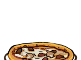 Pizza con Salsicce e Funghi