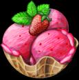 Dish-Strawberry Ice Cream