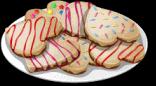 Dish-Heart Cookies