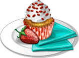 Dish-Strawberry Cupcakes