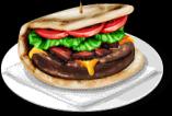 Dish-Naan Burger