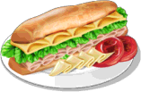 Dish-Ham and Cheese Sandwich