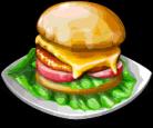 Dish-Cheeseburger