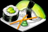 Dish-Avocado Sushi