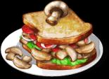 Dish-Mushroom Sandwich
