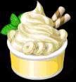 Dish-Banana Frozen Yogurt