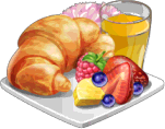 Dish-Croissant Breakfast