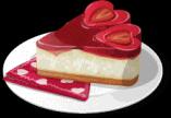 Dish-Strawberry Heart Cheesecake