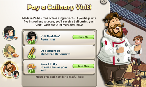 Pay a Culinary Visit!-Goal