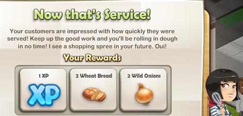 Super Speedy Service!-Rewards