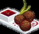Mini Meatballs in Saffron Sauce