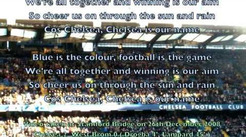 "Stamford Bridge sings Chelsea FC's Anthem ""Blue is the Colour"" ( with Lyrics )"