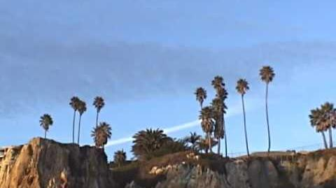 Chemtrail time lapse at Pismo Beach California -NOT CONTRAIL