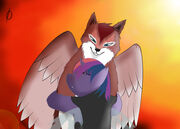 Winged wolf phenomenon even badaces need hugs by iokusanagi-d5bnzwe