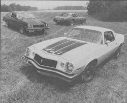 1974 Cosworth Vega, Corvette & Camaro Z28 -Motor Trend Oct. 1973