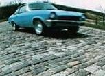 1972 Chevrolet Vega testing - Belgian blocks