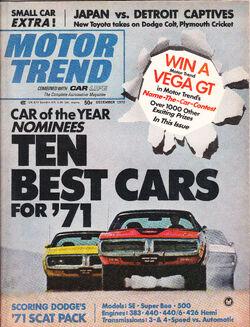 Motor Trend - December 1970