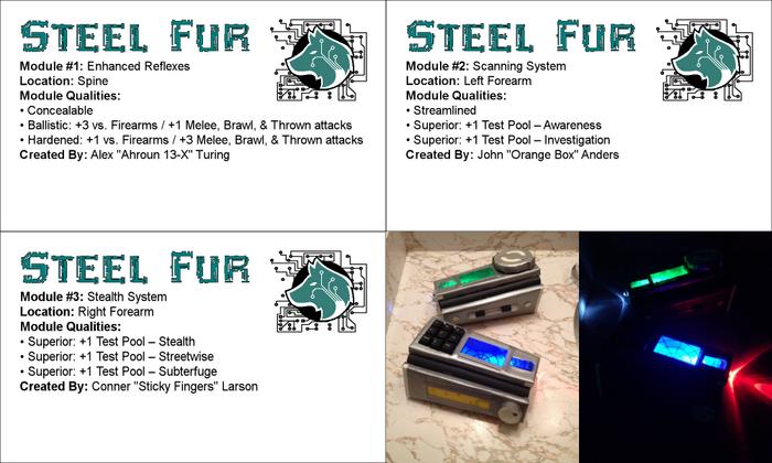 Bluestreak Steel Fur Modules