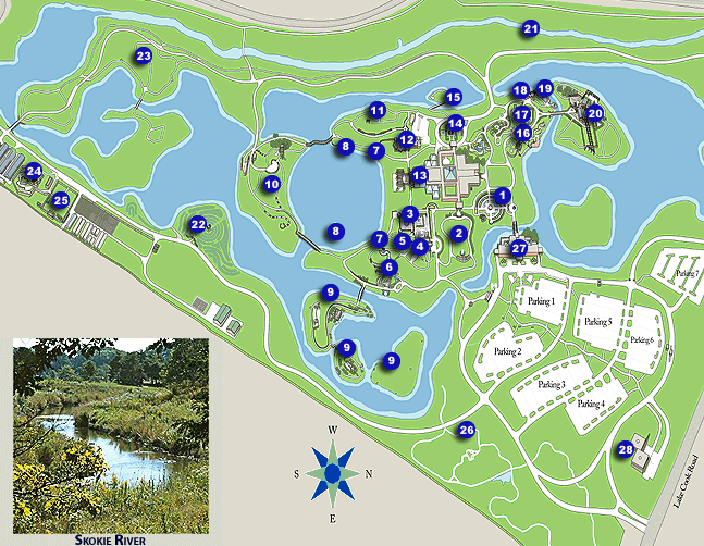 Image - Map of Chicago Botanic Garden.PNG | Chicago | FANDOM powered ...