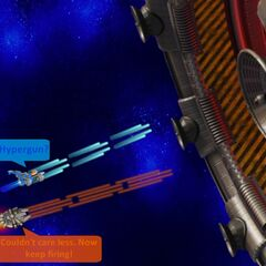 As the Egg Cannon returns, Hen Solo teams up with the Hero with his Boron Railgun mixed with the Hypergun