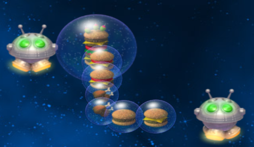 File:Chicken Invaders Ultimate Omelette Space Burger Headquarters Supply Droid Supplying Space Burgers.png